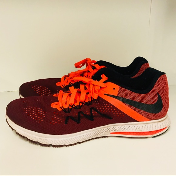 NIKE Zoom Winflo 3 Men s Size 15 Red Orange 831561 15cc4ebe8
